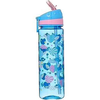 Filles Tritan Licorne Rose Paille SPORTS SCHOOL Jus Bouteille d/'eau 520 ml BPA free