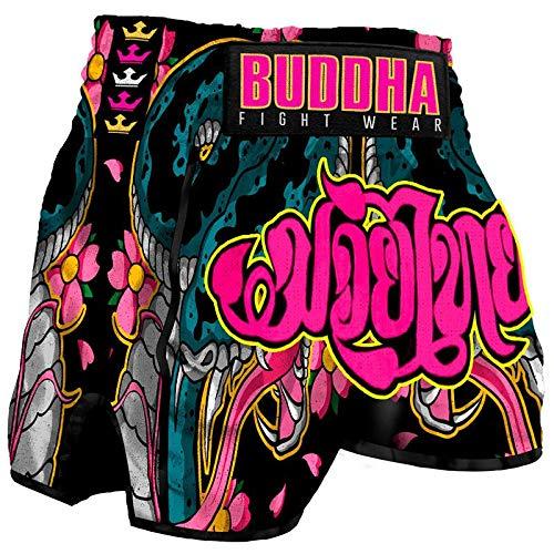 Buddha Fight Wear Pantalón Muay Thai Kick Boxing Buddha Retro Cobra