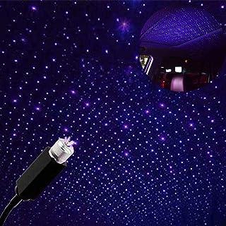 چراغ های سقفی عاشقانه سقفی , Usting 2020 چراغ شبانه انعطاف پذیر USB متناسب با همه اتومبیل ها چراغ تزئینی سقف فضای داخلی فضای اتاق ، مهمانی ، کمپینگ ، دیوارها - پلاگین و بازی (رنگ آبی)