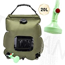 Camping Shower Bag,5 gallons/20L Solar Shower Bag with Removable Hose and On-Off Switchable,Shower Head for Camping Outdoor Traveling Hiking Summer Shower