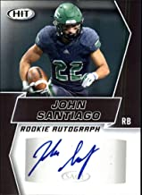 2019 SAGE Hit Premier Draft (NFL) Football BLACK Autograph #A2 John Santiago Auto North Dakota Official Player Licensed Rookie RC Trading Card