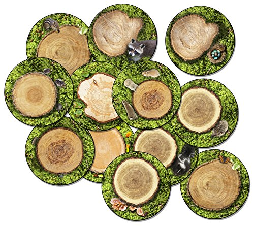Flagship Carpets FA1005-S12FS Forest Floor, Children's Seating Rounds Set of 12,Multi
