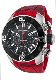 Swiss Legend Men's SL10617SM01RDS Lionpulse Chronograph Black Silicone Watch