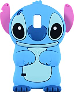 Blue Stitch Case for Samsung Galaxy S5,3D Cartoon Animal Cute Soft Silicone Rubber Protective Kawaii Character Cover,Animated Stylish Cool Skin Shell Cases for Kids Child Teens Girls Guys (Galaxy S5)