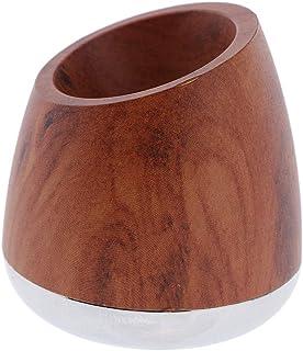 Generic Woodain安全かみそりスタンドダブルエッジシェーバーサポートベースシェービングホルダー - 褐色