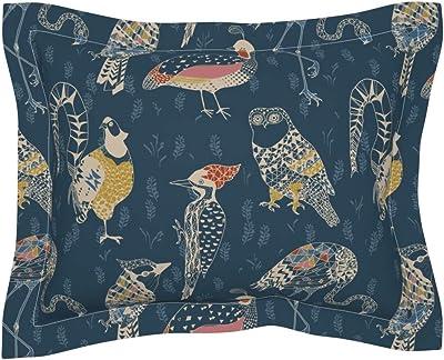 Amazon.com: Roostery Aloha Flanged Pillow Sham Fiji Tahiti ...