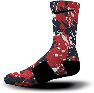 New England Splatter Custom Elite Socks