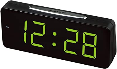 Números grandes electrónicos de escritorio Relojes Despertadores digitales UE enchufe de energía eléctrica Relojes de mesa