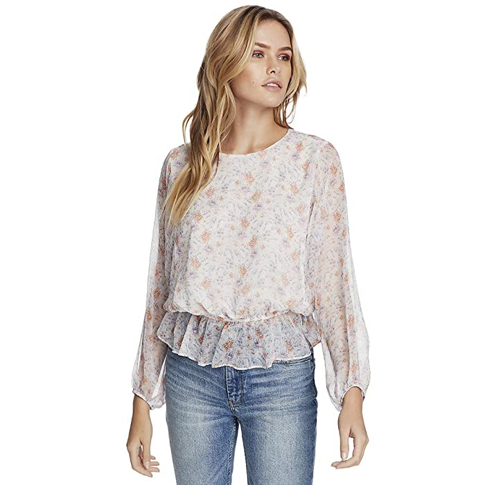 1.STATE  Long Sleeve Woodland Gardens Dolman Sleeve Blouse (Soft Ecru) Womens Clothing