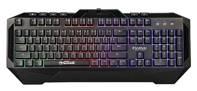 Marvo Scorpion Backlit Multimedia Gaming USB Keyboard - KG860 - Multicolor