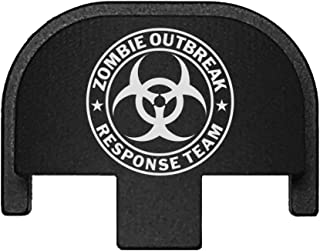 BASTION Laser Engraved Rear Cover Slide Back Plate for Smith & Wesson SD9VE, SD9, SD40VE, SD40. 9mm & .40 Cal - Zombie Response Team