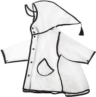 [ベィジャン] キッズ レインコート 男の子 女の子 透明 カッパ レインポンチョ おしゃれ レインウェア 軽量 ゆったり かわいい 通学