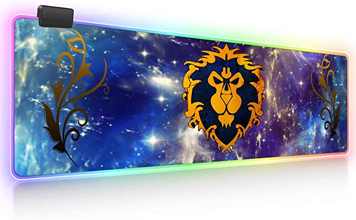 26. World of Warcraft - Soft Gaming RGB LED Extended Mousepad