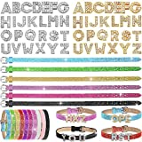 72 Pieces Rhinestone Letter Sliders Charm Alphabet Letter A-Z 8 mm Alloy Charm with Slide Wristbands Set for DIY Craft Bracelet Jewelry Making Supplies, Mixed Colors (Sequined Leather)