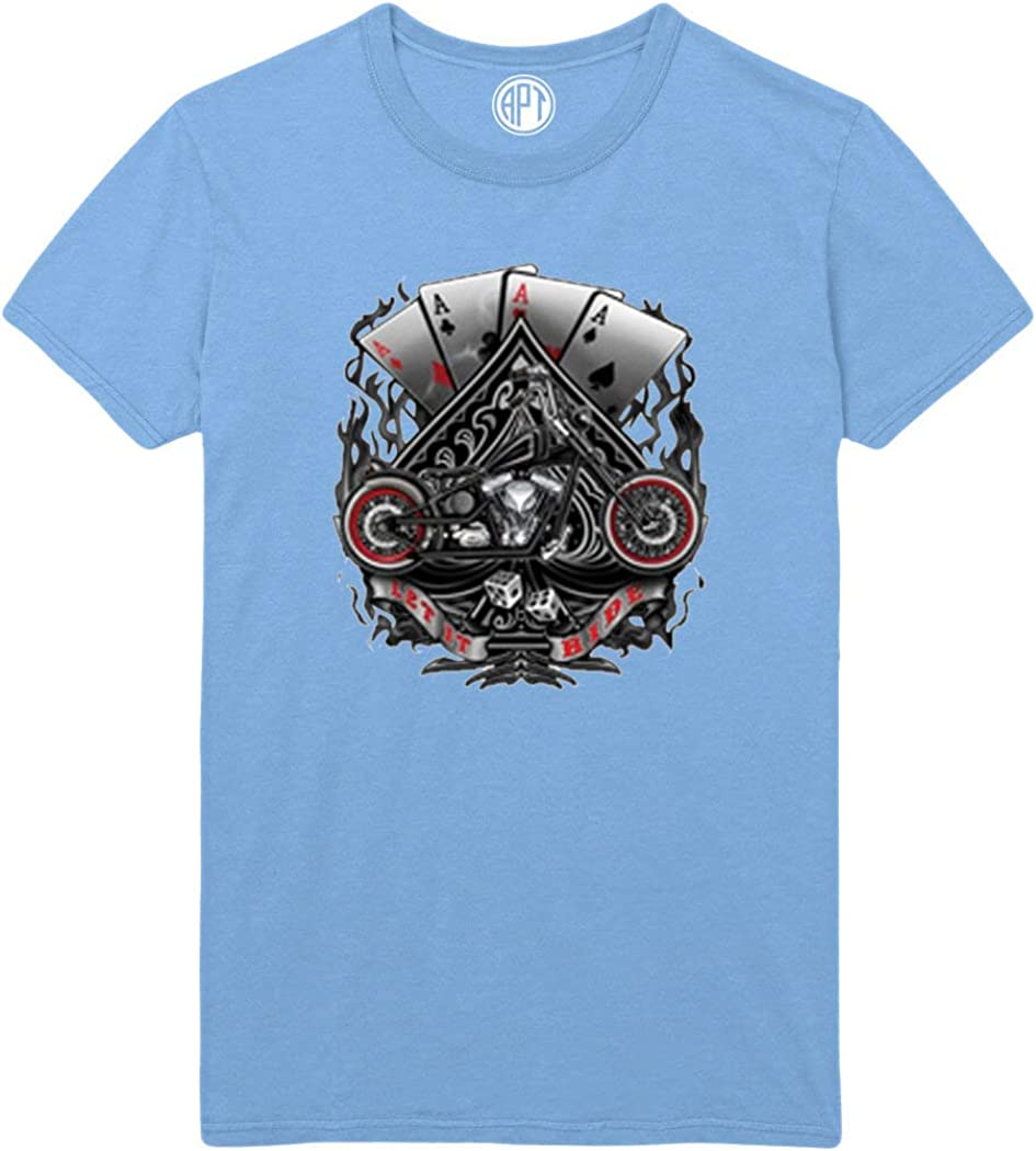 Aces and Motorcycles Printed T-Shirt