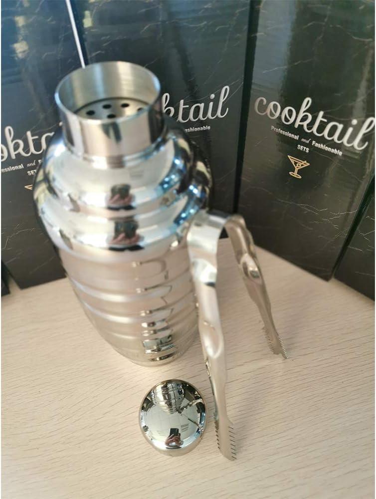 FONGWAH - Coctelera de cócteles con accesorios Ice Tong, armarios empotrables (500 ml)