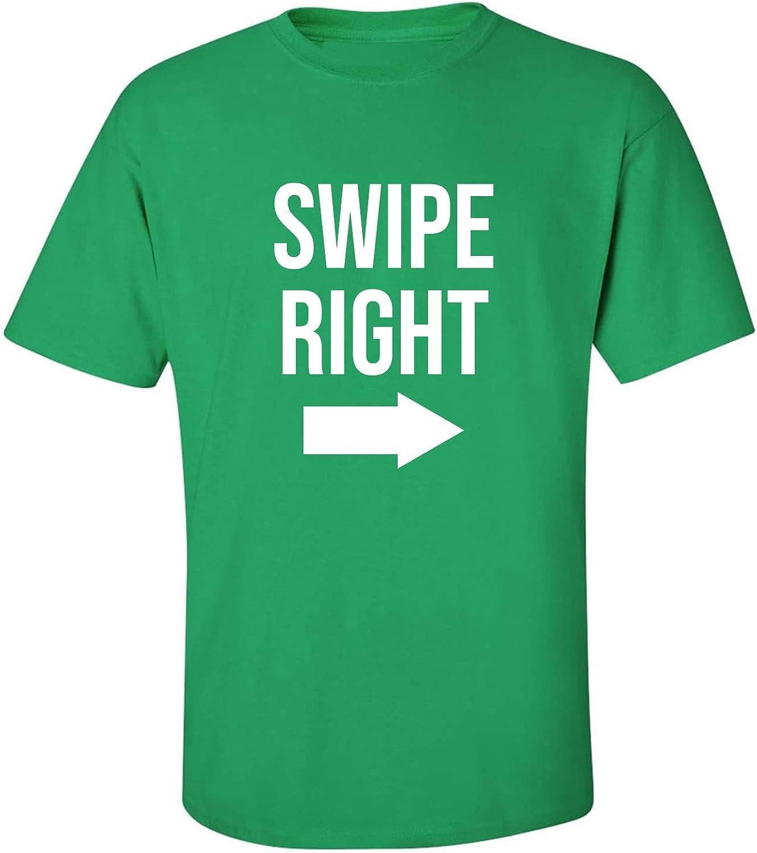 zerogravitee Swipe Right Adult Short Sleeve T-Shirt