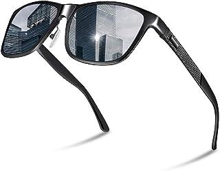 Glazata 偏光サングラス UV400 紫外線カット メタルフレームスポーツサングラス ドライブ/野球/自転車/釣り/ランニング/ゴルフ/運転 男女兼用