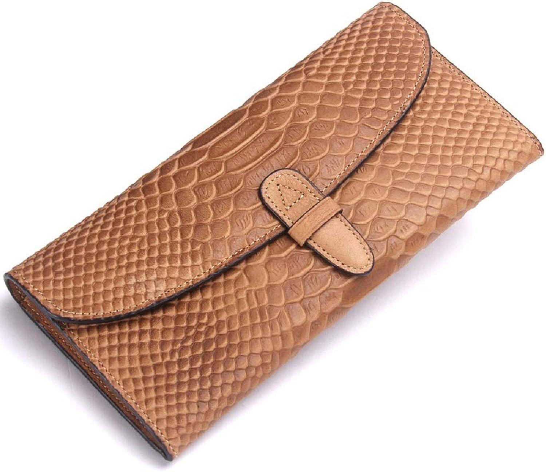 WFF Damenbrieftasche, Clutch aus Krokodilleder, Lederbrieftasche aus Schlangenleder mit mehrteiliger Handtasche B07N4WDYG3