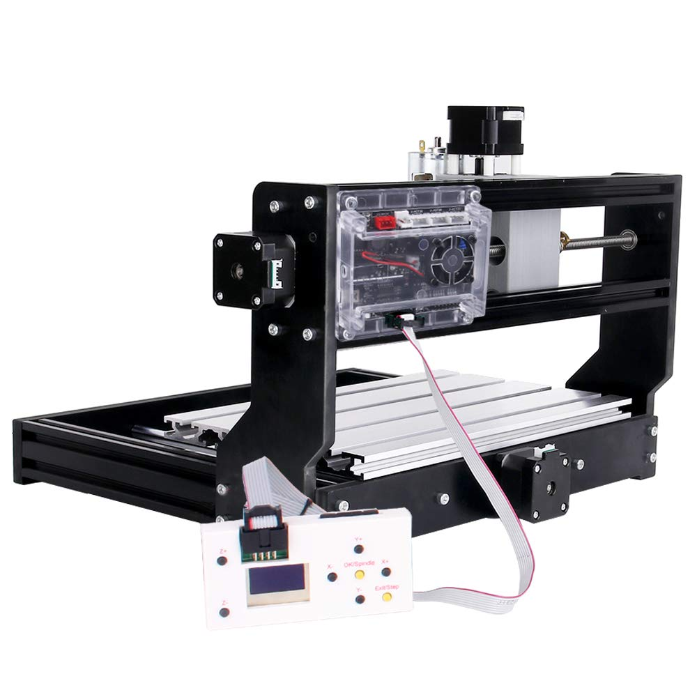mit ER11 und 5 mm Verl/ängerungsstange 2-in-1 Upgrade Version GRBL Control DIY Mini CNC-Maschine 3 Achsen PCB Fr/äsmaschine mit Offline Controller Yofuly CNC 3018 Pro 3000 mW Gravierfr/äsmaschine