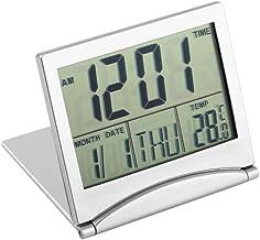 healthwen Modern design fällbart bärbart skrivbord Digital LCD-display Termometer Kalender Väckarklocka Flexibel omslag Da...