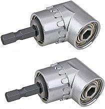 Gaoominy 2 piezas de Taladro de angulo recto, Multifuncion de 105 grados Controlador de angulo recto con zocalo hexagonal de 1/4 pulgadas Adaptador de soporte de destornillador