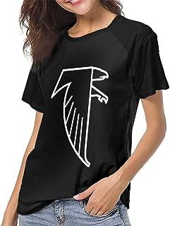 Women's T Shirts Atlanta Freddie Falcon Raglan Shirt Short Sleeve Baseball Tee