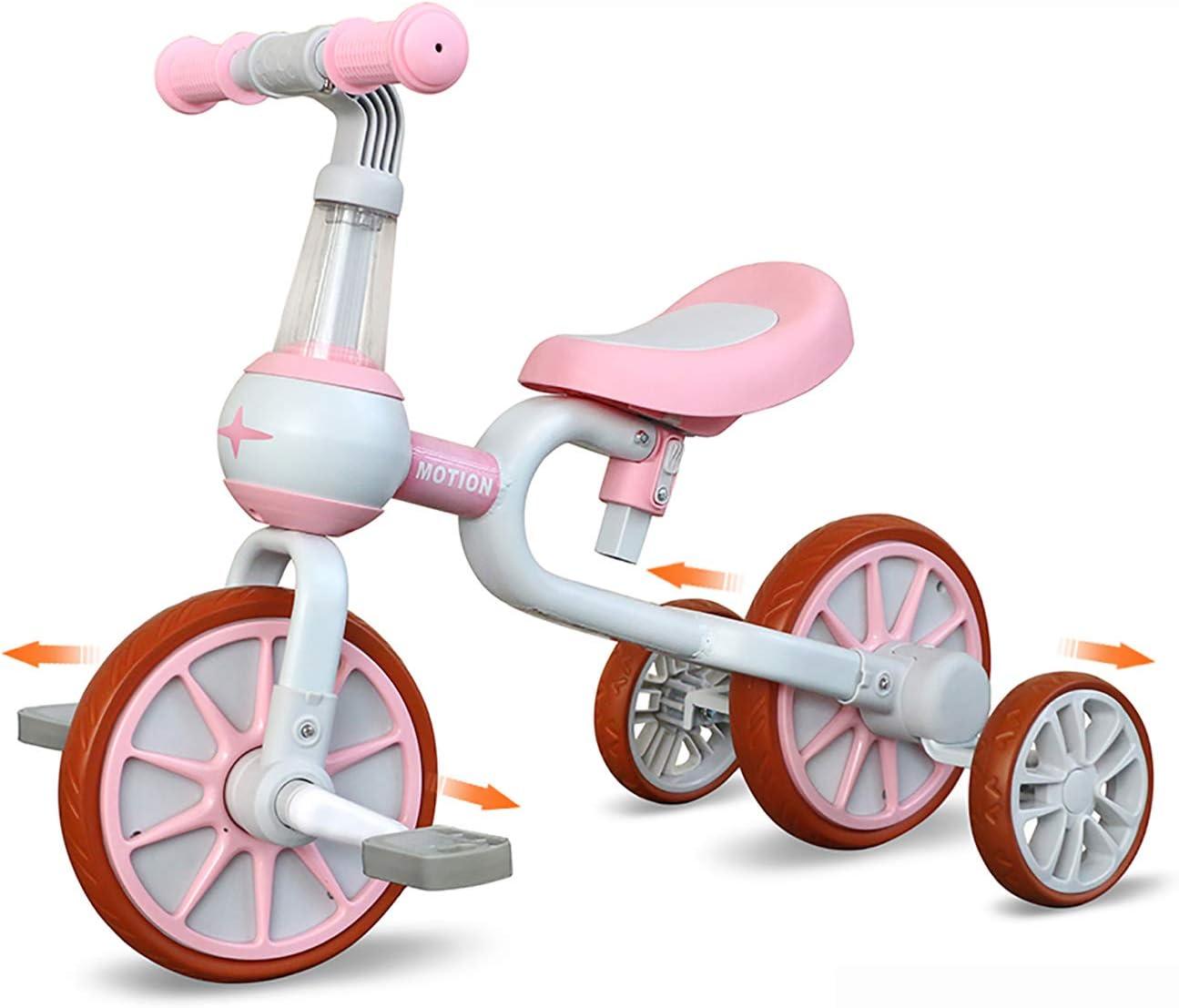 Dreirad Spielzeug f/ür 10-48 Monate Jungen und M/ädchen YGJT 3 in 1 Kinder Laufrad ab 2 Jahr Baby Lauflernrad als Geschenk f/ür Ersten Geburtstag Weihnachten Pink