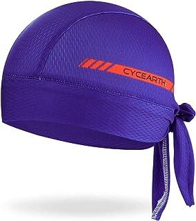 CYCEARTH Cycling Headscarf Dew Rag Men Skull Caps Hood Cool Head Bandana Hat Wrap Doo Rag Summer