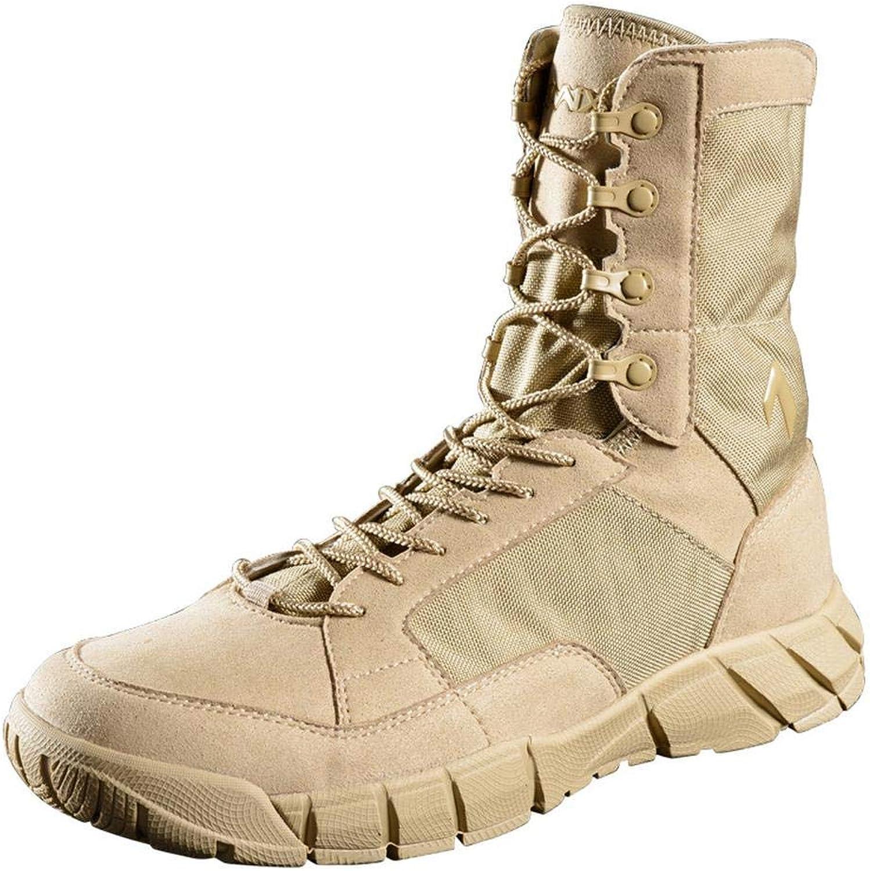 QIKAI Desert Combat Boots Tactical shoes Men's Summer Special Forces Super Light Breathable Boots Tactical Land Boots Hiking shoes Outdoor Boots