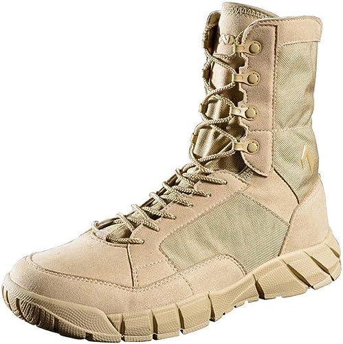 QIKAI Desert-Kampfstiefel Taktische Taktische Taktische Schuhe Herren Sommer Special Forces super leichte atmungsaktive Stiefel taktische Landschuhe Wanderschuhe Outdoor-Stiefel  zurückhaltende Luxus-Konnotation