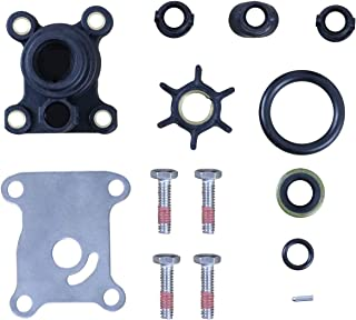 Outboard Water Pump Impeller Kit for Johnson Evinrude 1974-UP 9.9-15 HP OEM 394711 18-3327 386697 391698 389112 387610