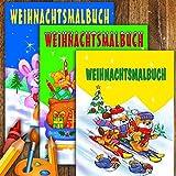 Malbuch - Weihnachten: 3 Hefte a 80 Seiten