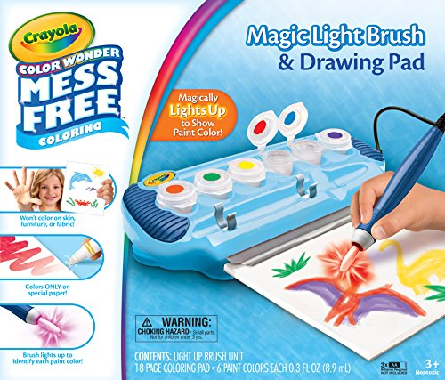 Crayola 75-2463 Color Wonder Magic Light Brush & Drawing Pad, Mess Free Coloring, Gift for Ages 3, 4, 5