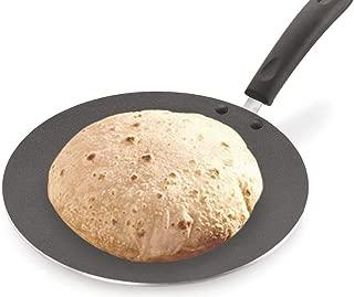 GD Non-Stick Chapati Tawa/Roti Tawa/Paratha Tawa, Aluminium 2.6 MM with Free Wooden Spatula & Scrubber (275MM)