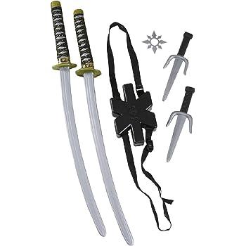 Ninja Black Plastic Toy Sword Sheath 60cm Party Costume Novelty Favors Dress Up