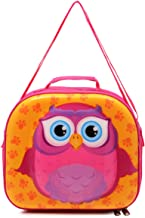 Skool Owl Carry-All Lunch Bag, Pink and Yellow