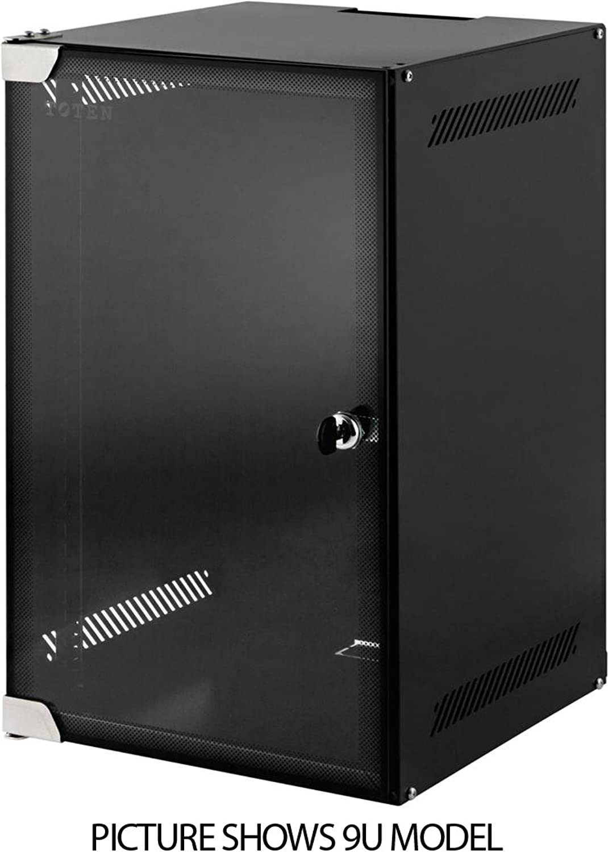 6 HE 10 Zoll 10  Wandschrank   Serverschrank mit Glastür (BxTxH)  280x310x330mm - NEU  19Power GmbH
