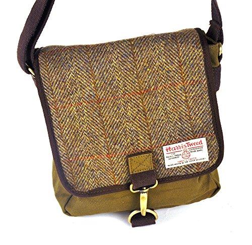 Damen oder Herren Traditionelle Harris Tweed und Canvas Messenger Bag In der Wahl von Farben und...