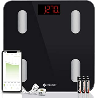Etekcity Digital Body Weight Scale, Smart Bluetooth Body Fat BMI Scale, Bathroom Weighing..