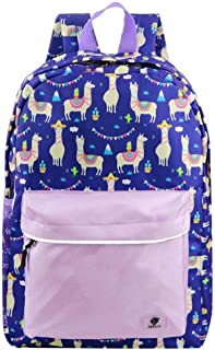 Backpacks for Little Girls, Boys, Kids by Fenrici, 16 Inch Book Bags with Water Bottle Pocket for Preschooler, Kindergartener, Support a Great Cause, Pink Ilama