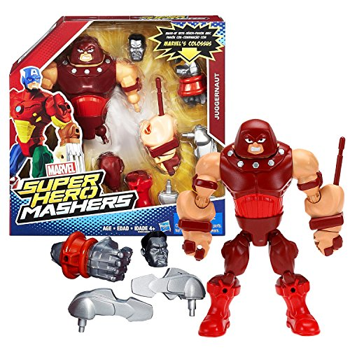 Super Hero Mashers Marvel Year 2015 Marvel Upgrade Your Mash-Up Series 6 Inch Tall Figure - Juggernaut with Fist Launcher, Colossus' Head and Right Hand