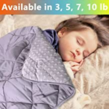 MAXTID Weighted Blanket for Toddler 3 lb 36×48 Polyester & Minky Premium Kids..