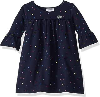 Girls Fleece Printed Multicolor Dots Dress