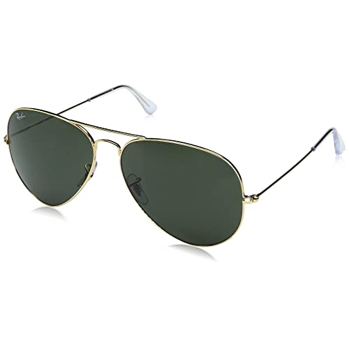 cc6e83235d Ray-Ban Classic Aviator Sunglasses in Arista Gold Grey Green RB3025 001 62