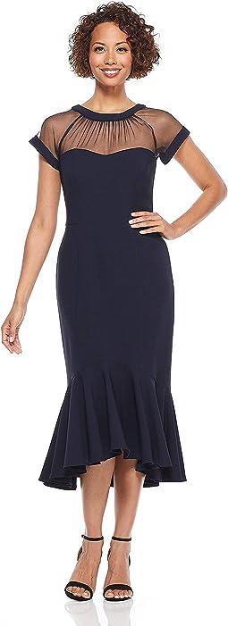 Petite Illusion Cocktail Dress