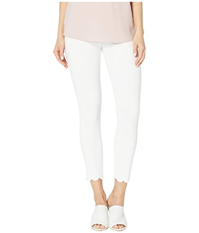 Lysse Scallop Edge Denim Leggings (White) Women