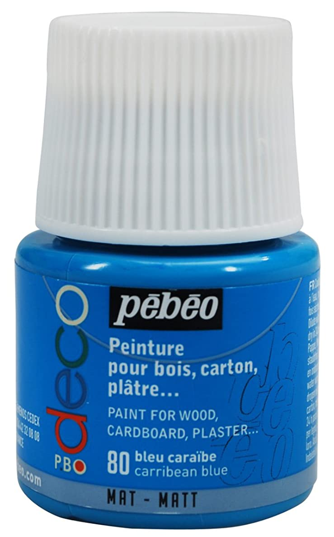 PEBEO 45ml Deco Matt, Acrylic Caribbean Blue, 7 x 4.5 x 4.5 cm