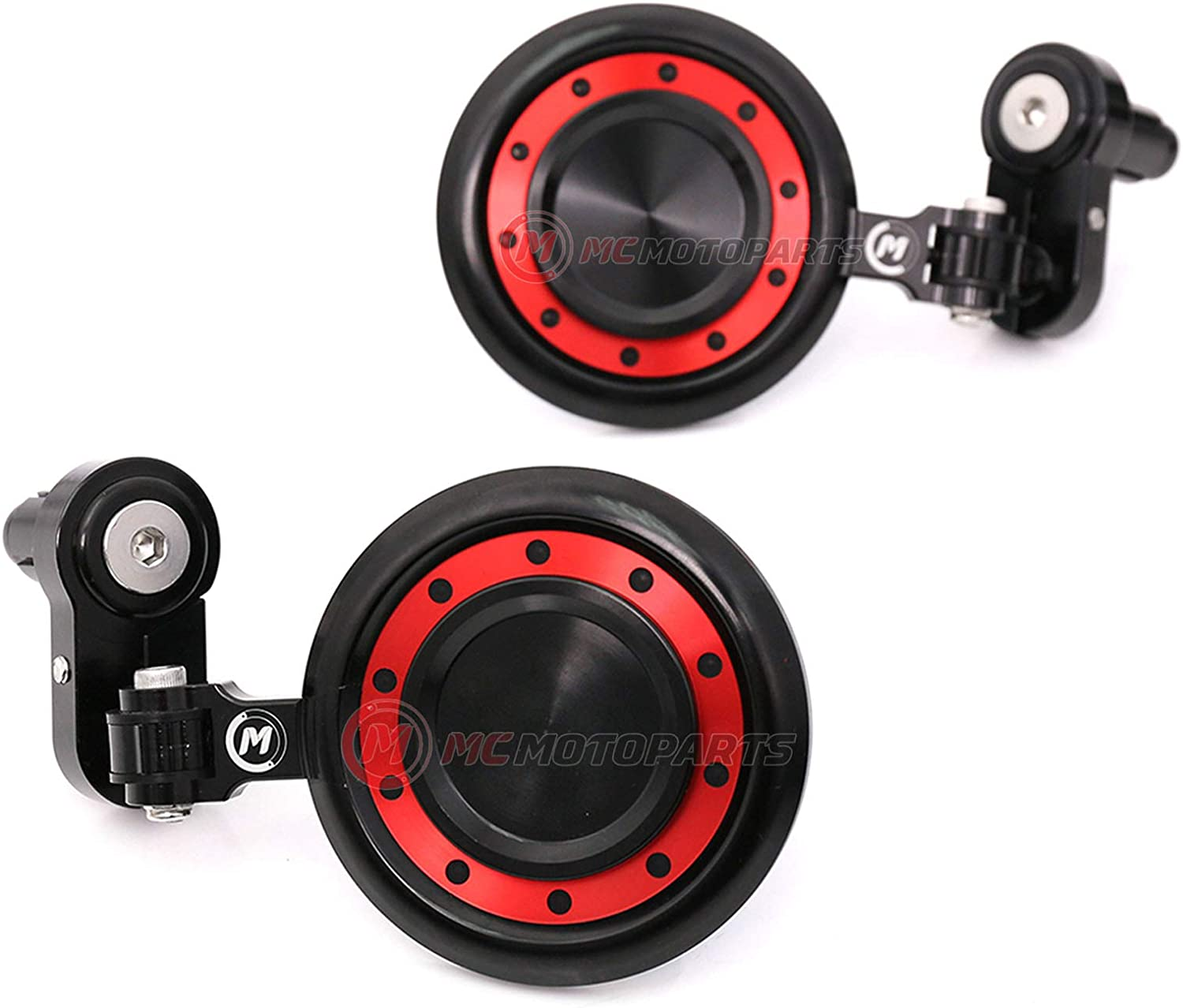 MC MOTOPARTS Memphis Mall Red REACTOR Bar End Mirrors with Z800 Z1 Cash special price Compatible