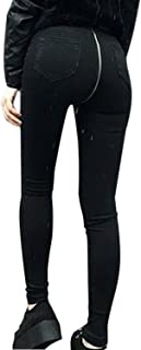 La Mujer Casual Jeans Cremallera Trasera Stretchy Skinny Pantalones Demin